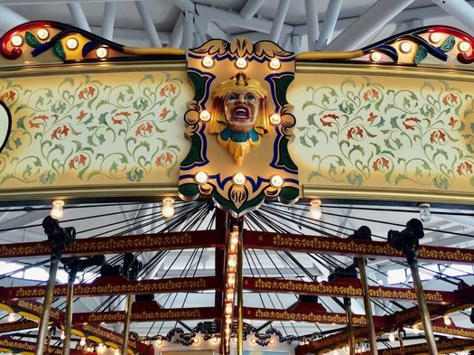 State Museum Carousel carved wooden face