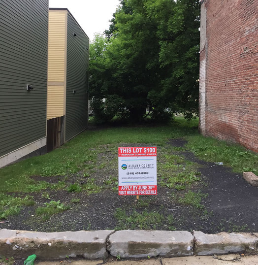albany county land bank vacant lot sale