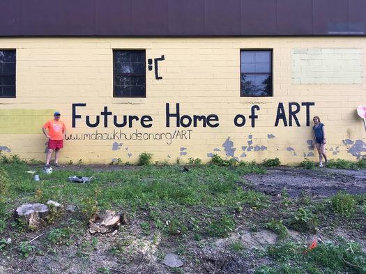 proposed ART Helderberg-Hudson Rail Trail mural site Adams Street