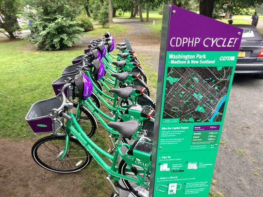 CDTA bike share Washington Park