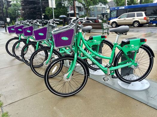 CDTA bike share bikes Madison Ave