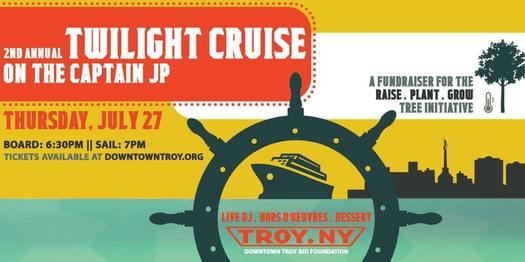 Downtown Troy BID river cruise poster