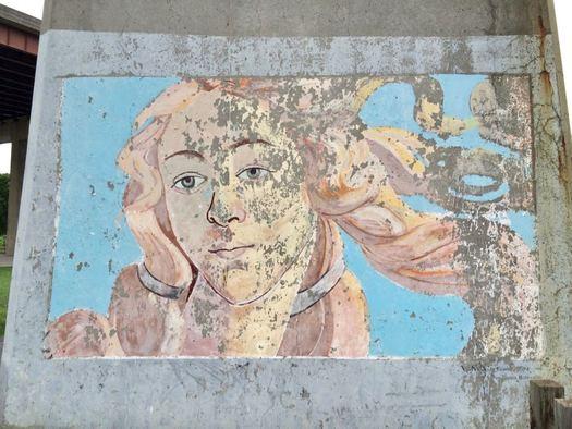 Rensselaer Riverfront Park Venus mural