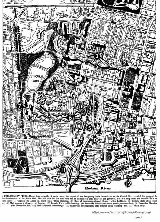 South Mall 1962 plan