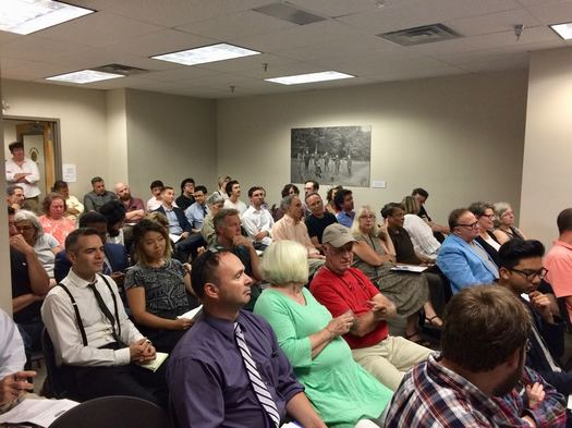Troy planning commission 1 Monument Square 2017-07-26 crowd