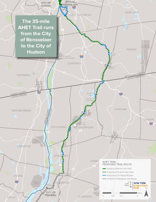 Albany Hudson Electric Trail draft map