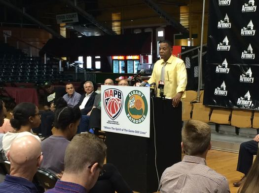 Albany Patroons announcement Derrick Rowland