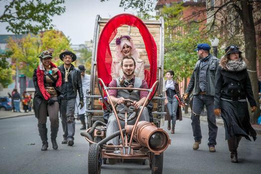 Enchanted City steampunk vehicle
