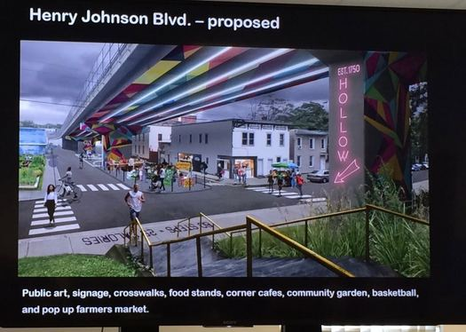 Sheridan Hollow Henry Johnson underpass rendering