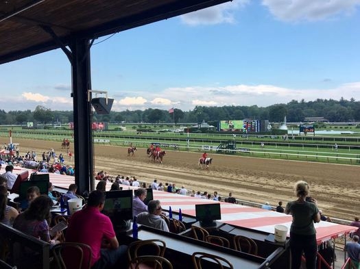Saratoga Race Course from clubhouse 2017