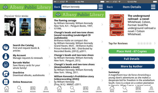 UHLS library app screenshots