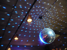 disco ball lights on ceiling CC