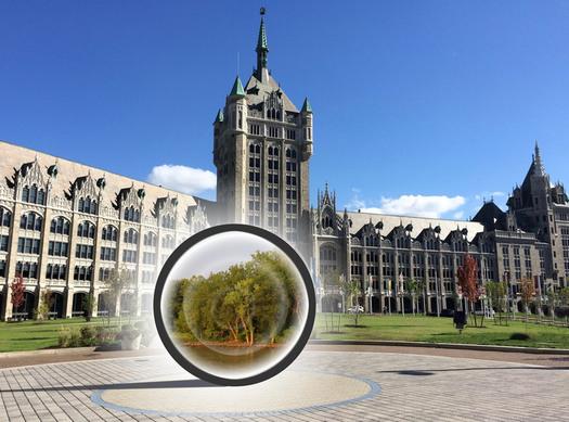 portal on SUNY plaza