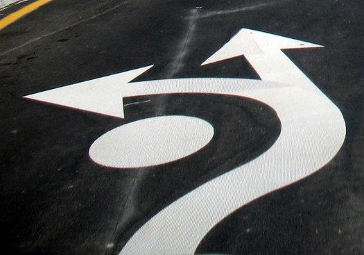 roundabout pavement arrows