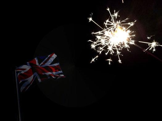 sparkler Union Jack