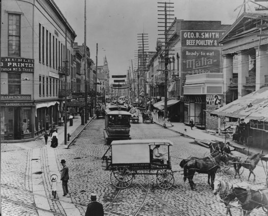 market block downtown Troy early 1900s