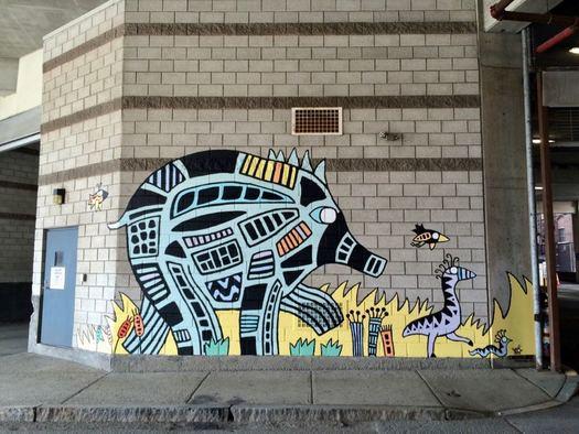 Capital Walls mural Sylvie Kantorovitz