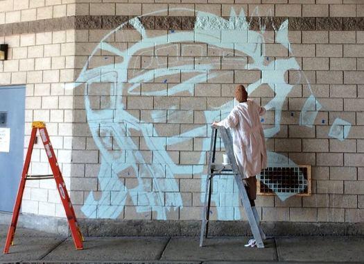 Capital Walls murals 2017 October in progress Kantorovitz 1