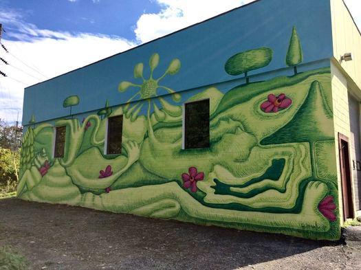 Helderberg Hudson Rail Trail Mural Complete