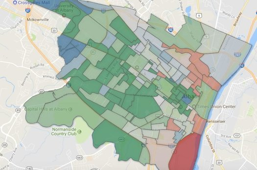 albany democratic mayoral primary 2017 election district map clip