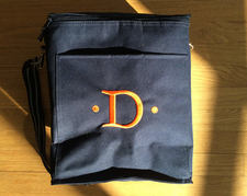 embroidered picnic bag