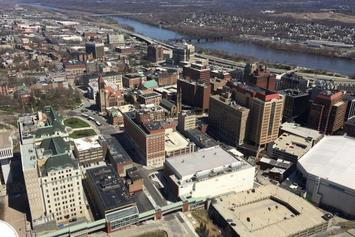 Corning Tower view downtown Albany 2017-April