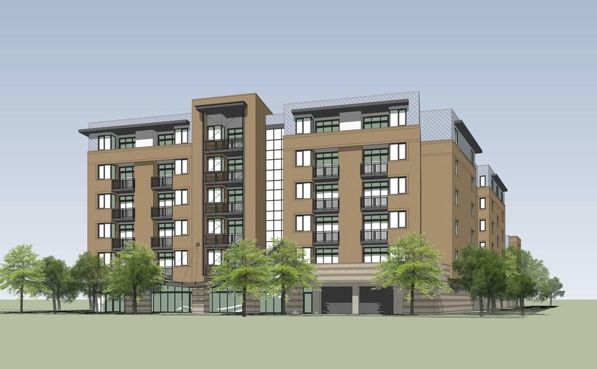 1211 Western Ave apartment proposal rendering1 version 2018-May
