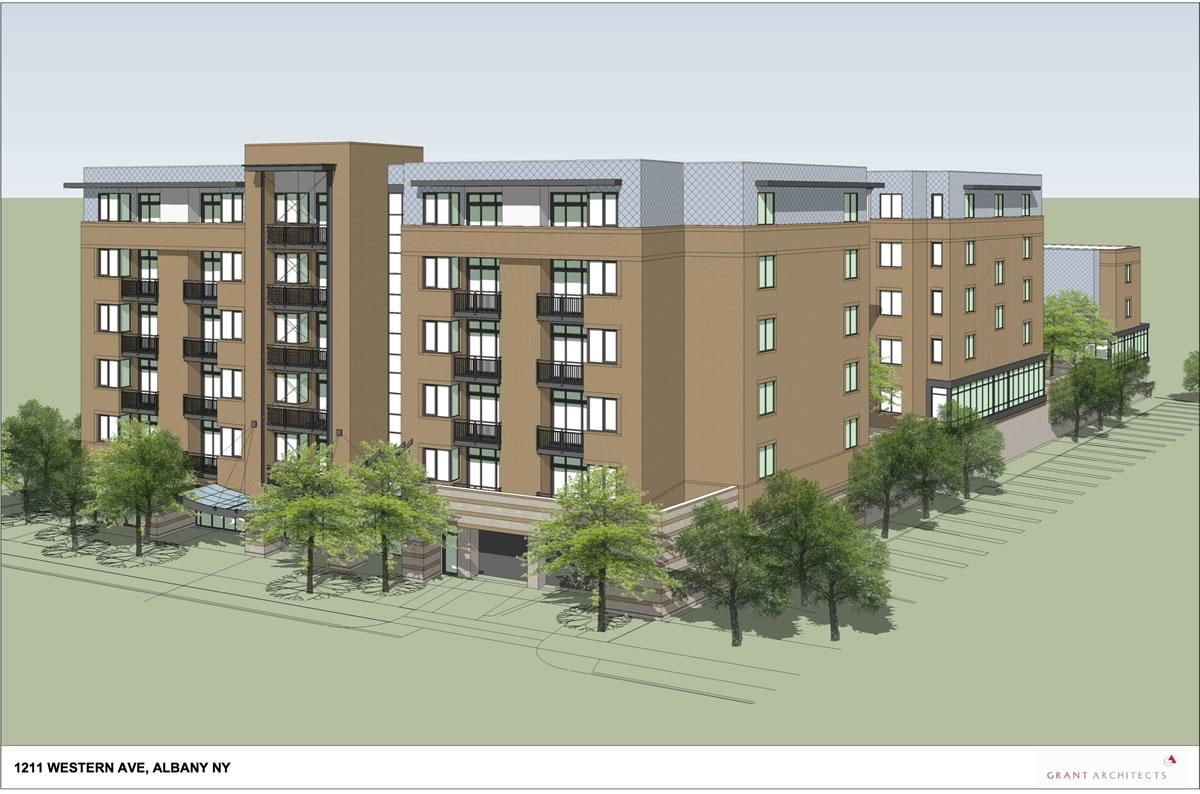 1211 Western Ave apartment proposal rendering2 version 2018-May