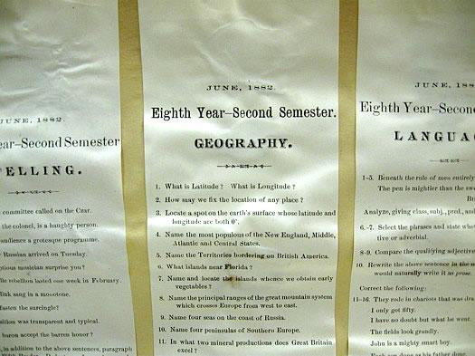 1882 8th grade quiz