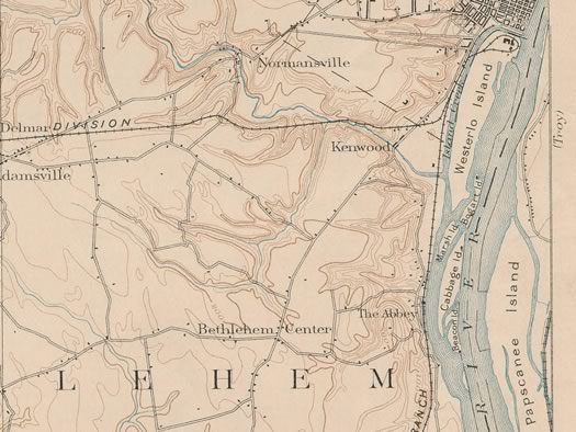 1893 map normanskill hudson river