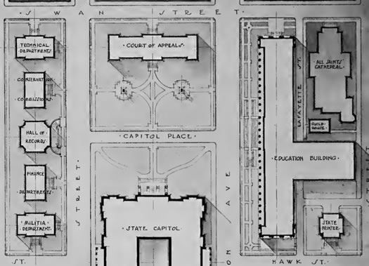 1911 plan for area around Capitol in Albany