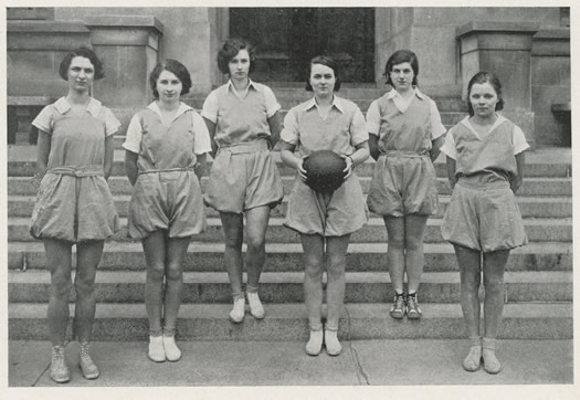 1932 Albany High School yearbook basketball girls