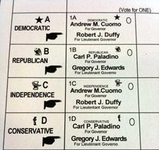 2010 ballot closeup