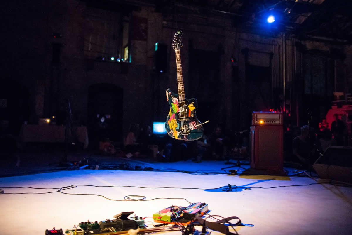 24-Hour Drone floating guitar Basilica Hudson