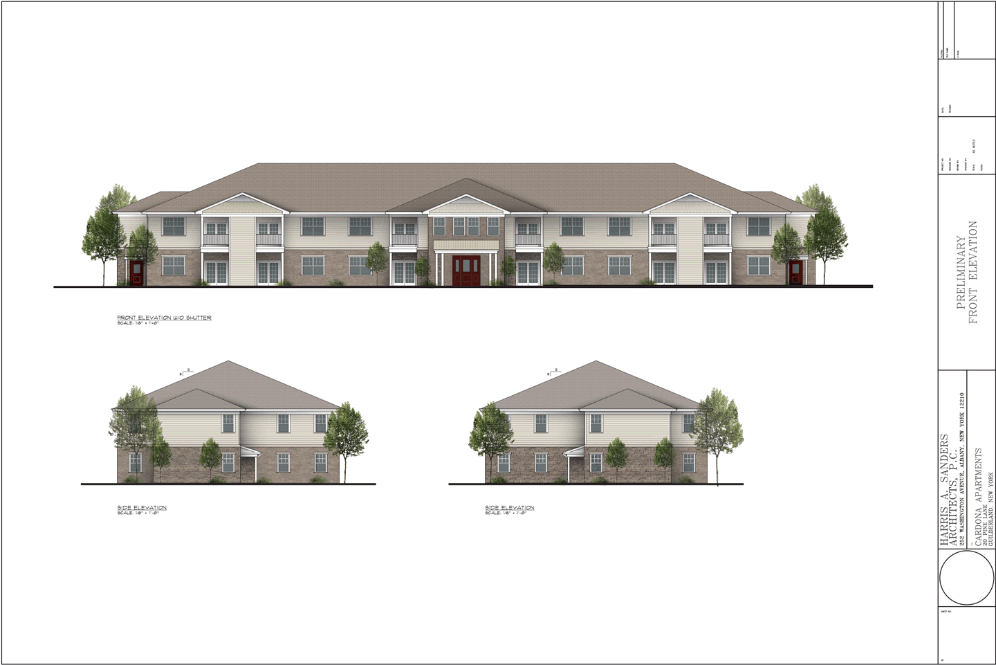30 Pine Lane apartments elevations