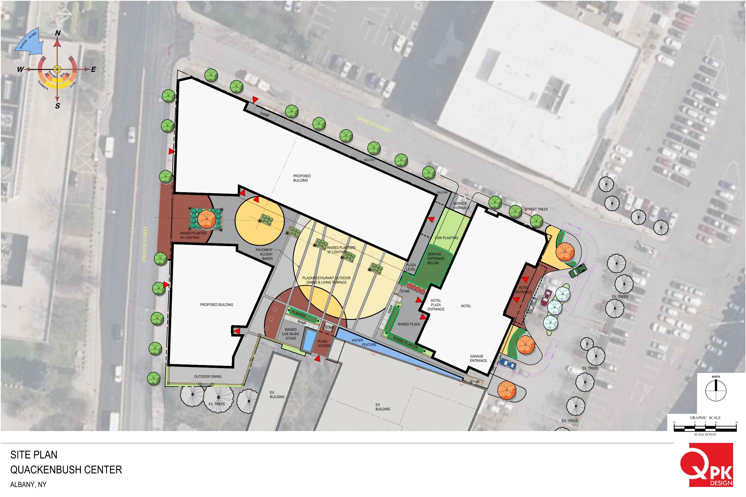 The new plan for a big mixeduse development near Quackenbush Square – Site Plan Renderings