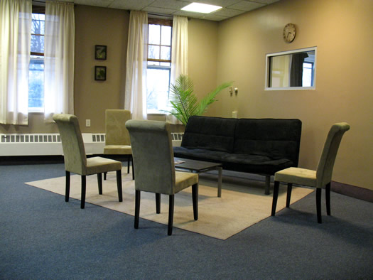 747 Madison community office waiting area