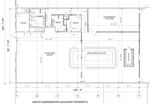 897 Broadway wine bar proposal floor plan