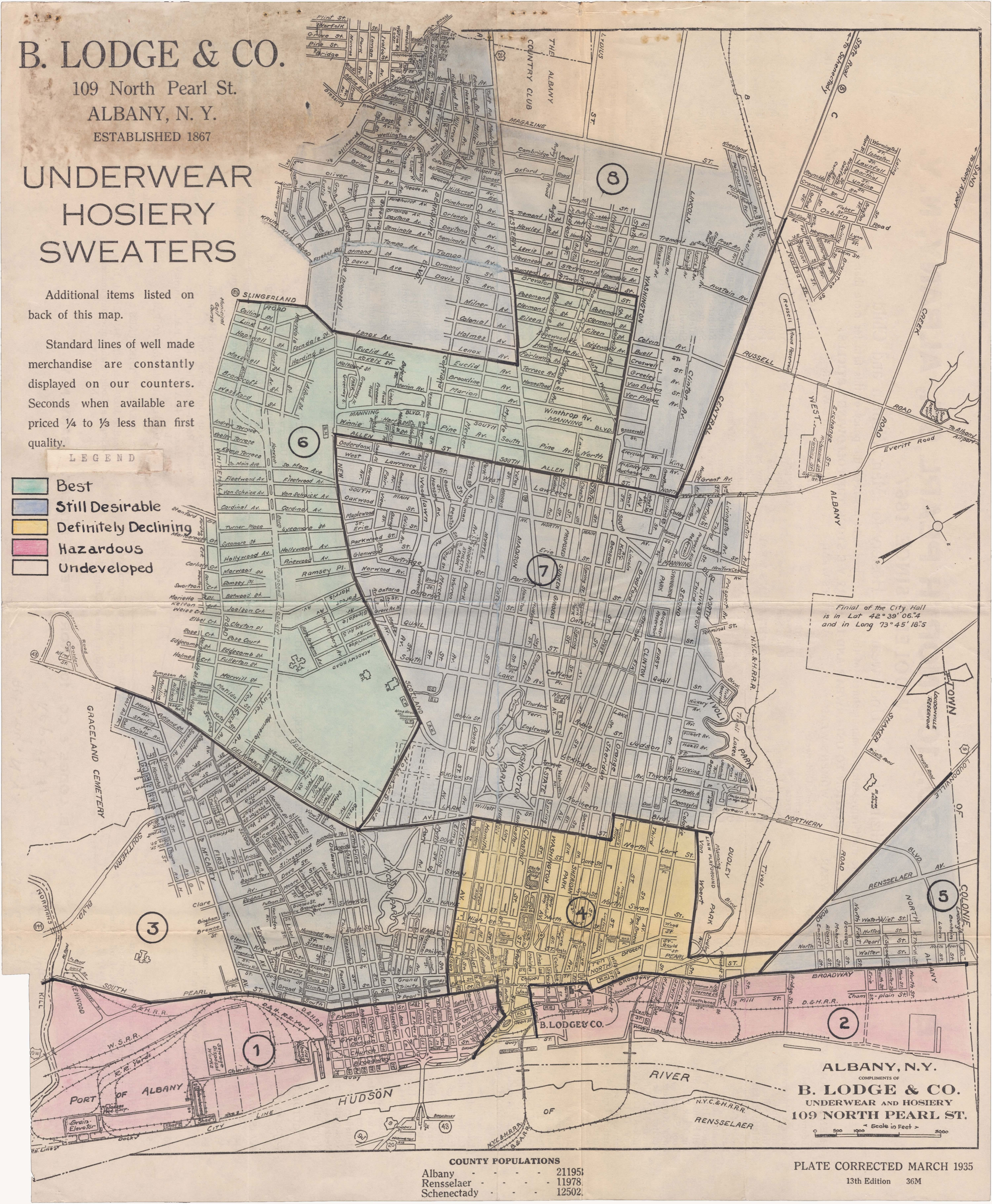 Examining The Forces And Maps That Redlined The City Of Albany - Map of us with west undeleoped
