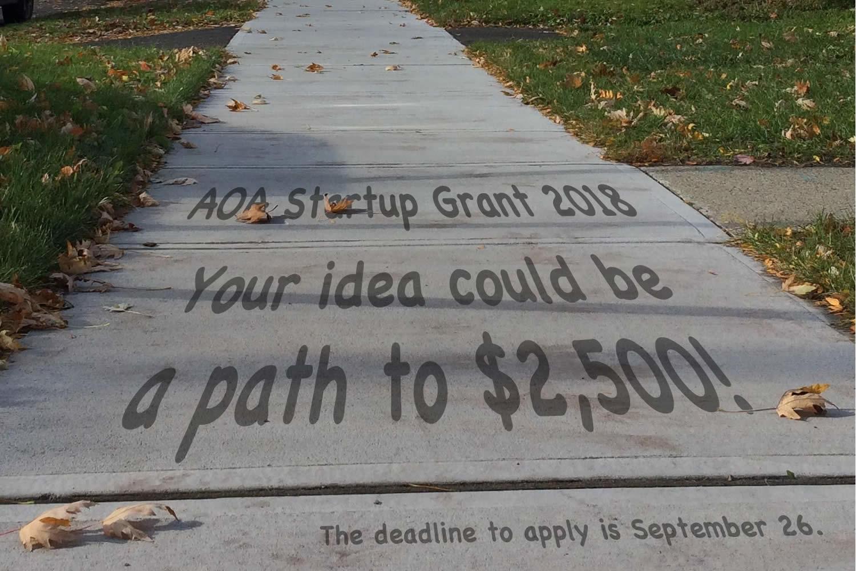 AOA Startup Grant 2018 billboard announce