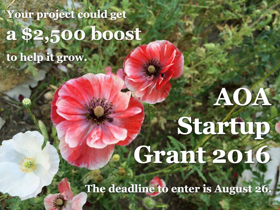 AOA startup grant 2016 billboard