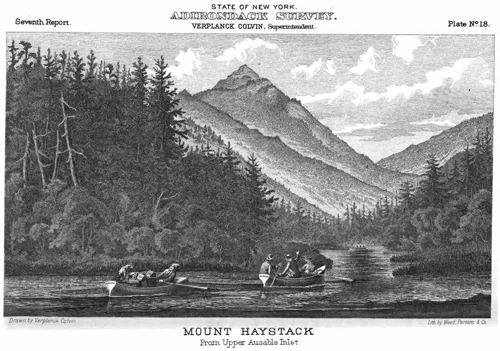 Adirondack Survey Verplanck Colvin Mt Haystack illustration