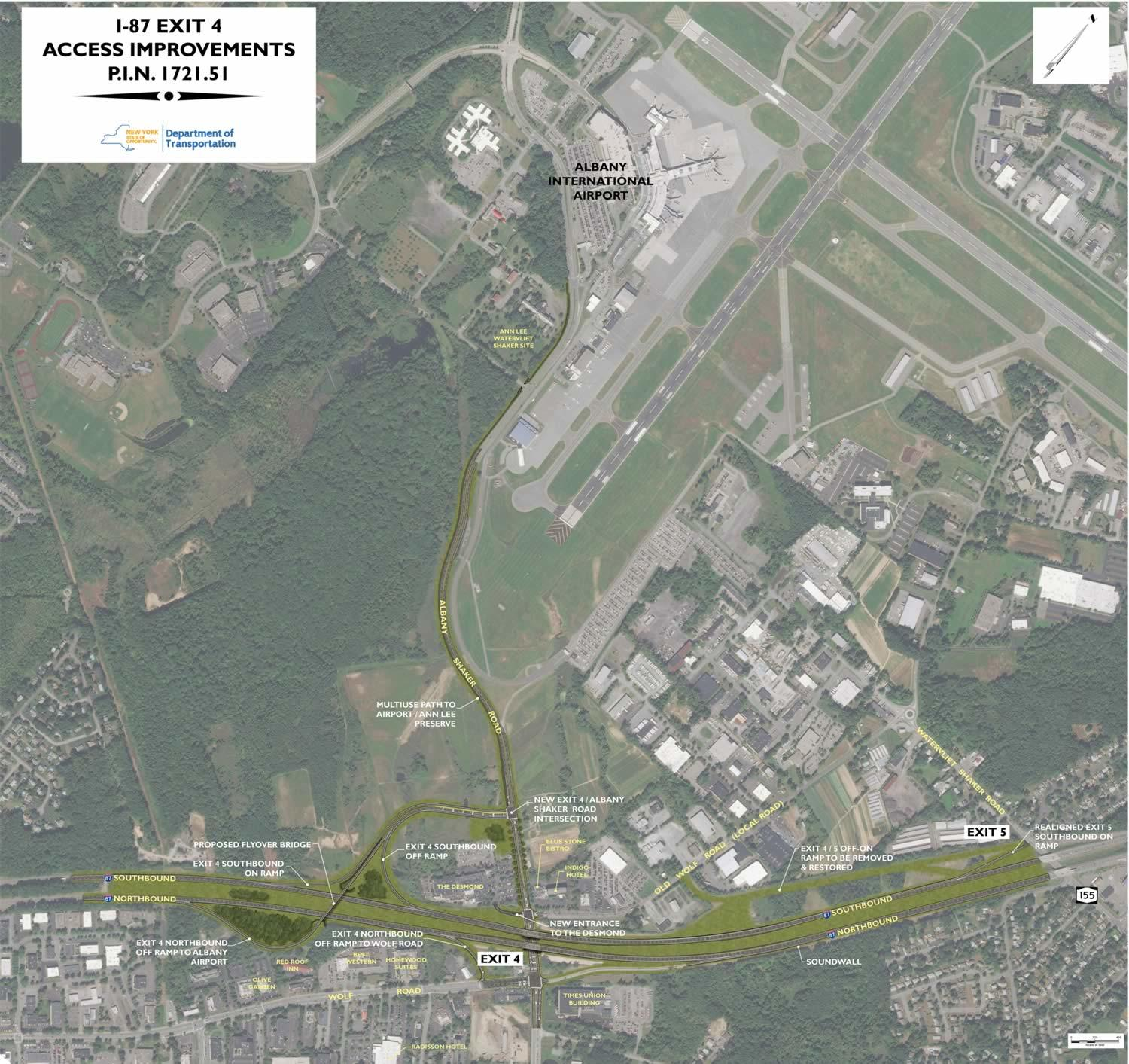 Albany Airport Connector overview