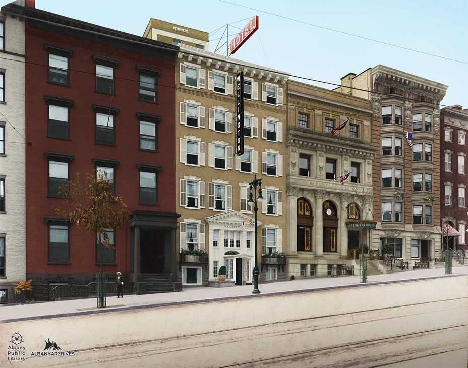 Albany Archives Wellington Row Colorized