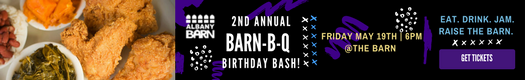 Albany Barn birthday barbecue in-post ad