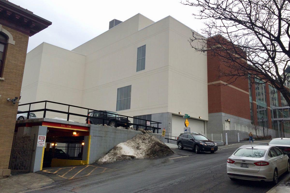 Albany Capital Center rear blank wall