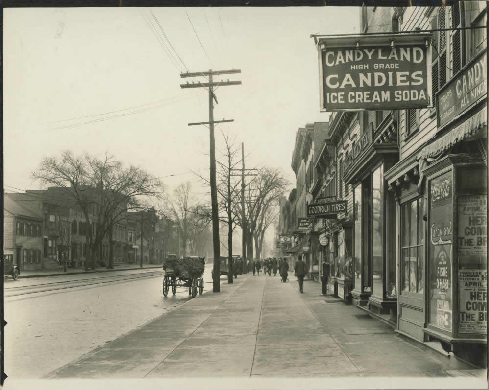 Albany Central Ave west from Northern Boulevard 1920s APL