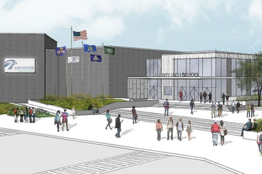 Albany High School rendering revised plan