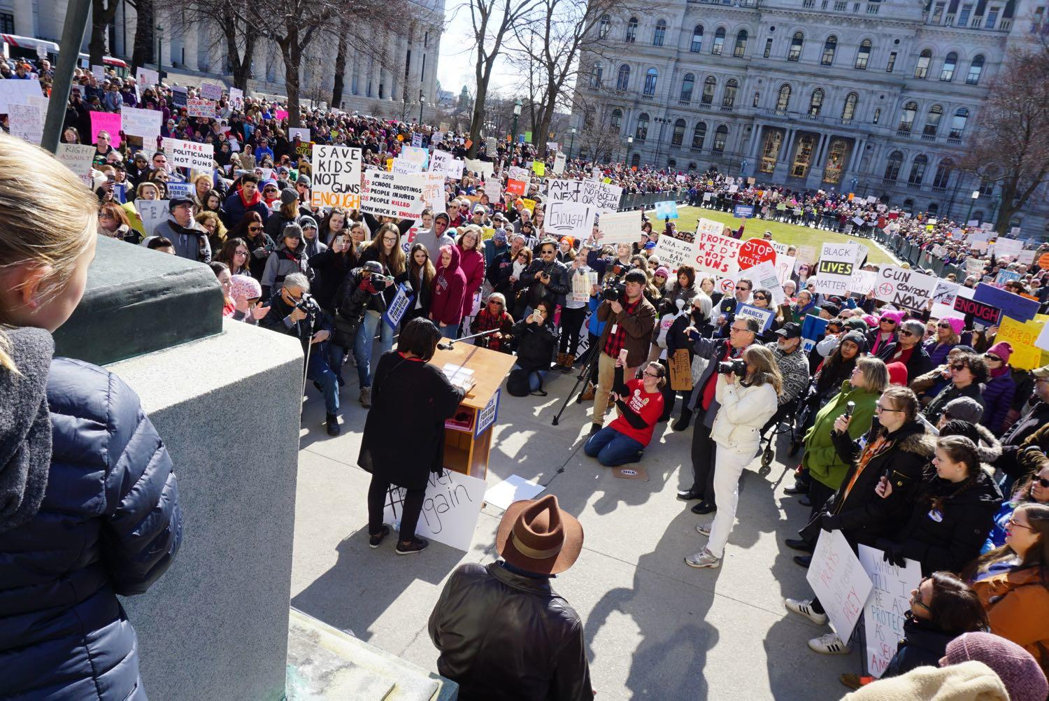 Albany March for Our Lives speaker crowd