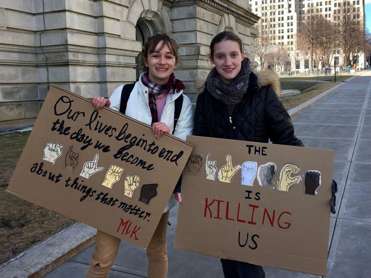 Albany March for Our Lives Carley and Hannah